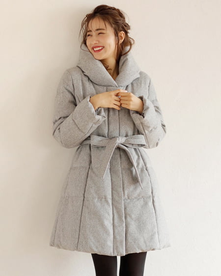 【福袋優待権対象】【一部カラー予約受付中】ショール襟中綿/コート
