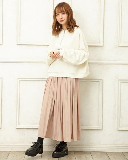 【春の新作】ヴィンテージサテンギャザースカート