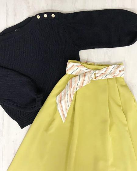 【春の新作】2Wayベルトツイルミディ/スカート