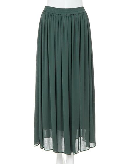 シフォン楊柳ロング/スカート