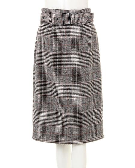 グレンチェックナロー/スカート