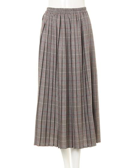 グレンチェックプリーツ/スカート