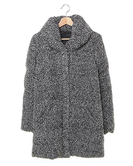 【WEB先行】ブークレーショール襟中綿コート