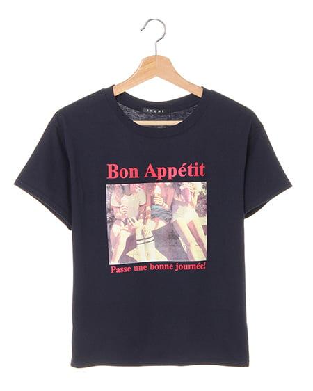 カラーフォトロゴ半袖Tシャツ
