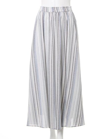マルチストライプミディ/スカート